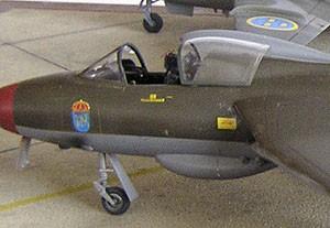 Hawker Hunter vacformad huv x 2