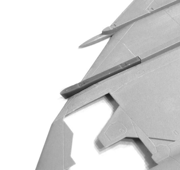 2 x Korrigerad vingbalk f. SAAB 37 Viggen (TAR/SH) V7H & V7V