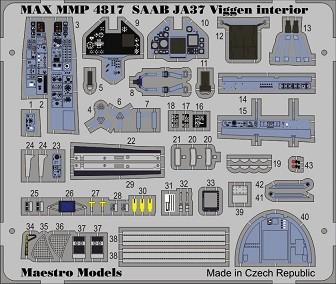 JA37 Viggen cockpit detaljset (TAR)