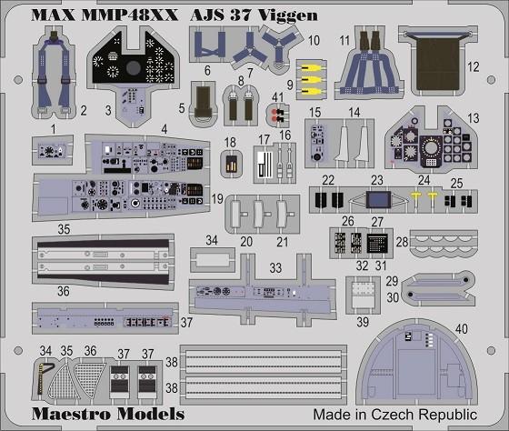 AJ/AJS 37 Viggen cockpit detaljset (SH/TAR)