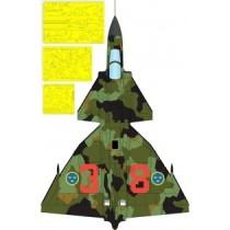 SAAB 37 Viggen 1-sits splinter kamo målningsmask