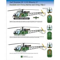 Hkp2 Alouette II, Flygvapnet, Marinen & Armèn (ex. Hobbycenter decal)