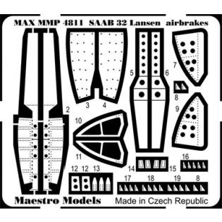 SAAB 32 Lansen luftbromsar