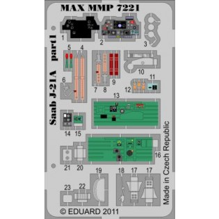 SAAB J21A-1 detaljset för Special Hobby