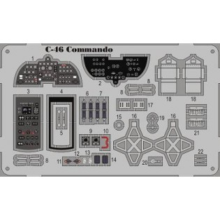 C-46 Commando detaljer COLOR ETCH