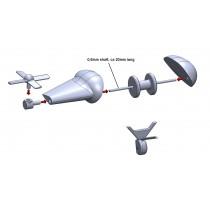 Måldragarwinch för SAAB B17 (3D print)