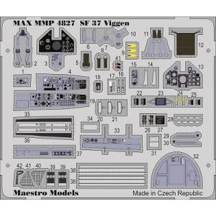 SAAB SF37 Viggen (photo recce) cockpit detail set (SH/TAR)