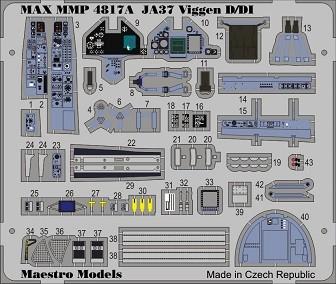 SAAB JA37 Viggen D / DI cockpit detail set (TAR)
