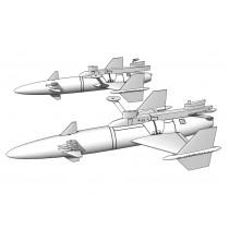 2 × Rb04C/D missile w.  SAAB A32 Lansen launchers