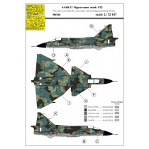 1/72 SAAB 37 Viggen 1-seater splinter camo paint mask 1/72