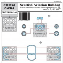 Scottish Aviation Bulldog canopy & wheel masking set