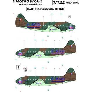 C-46 Commando decals BOAC SEE INFO